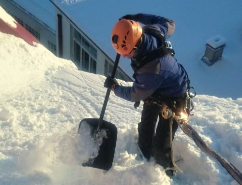 Kuidas ise ohutult katuselt lund lükata?